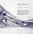 Abstract geometric background modern style vector