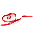 Ribbon in the form of heart vector