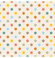 Seamless colorful polka dots pattern vector