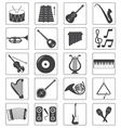 Music instrument icons set vector