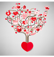 The tree heart valentines day love icon vector