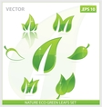 Creative concept eco green leafs symbols set vector