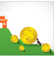 Saving money concept show small ant vector