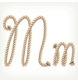 Rope alphabet letter m vector