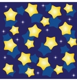 Golden yellow stars over blue background vector