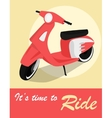 Vintage card of scooter in retro style vector