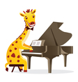 Musical animals giraffe piano vector