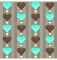 Seamless pattern with many hearts on a brown vector