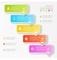 Design business infographics five successive vector