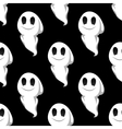 Halloween ghosts seamless pattern background vector