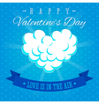 Valentines day love is in the air greeting card vector