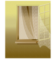 Open window white wall vector
