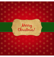 Christmas old label vector