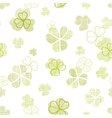 Clover textile textured line art seamless pattern vector