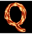 Fiery font letter q - eps 10 vector