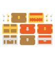 Treasure chests vector