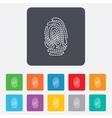 Fingerprint sign icon identification symbol vector