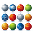 Twelve christmas ball vector