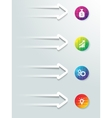 Web icon elements infographic arrows with buttons vector
