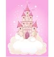Princess fairytail castle vector