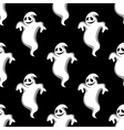 Seamless pattern of halloween ghosts vector