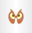 Owl head icon design vector