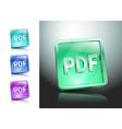 Pdf icon button internet document file vector