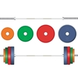 Multicolor barbell on white background vector