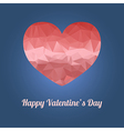 Happy valentines day greeting card with heart and vector