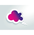 Cloud speech bubbles are connecting network vector