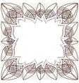 Draw dry leaf border stock vector