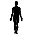 Silhouette of human male vector