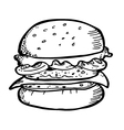 Burger doodle vector
