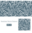 Excellent seamless floral pattern white and blue vector