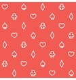 Casino pattern red vector