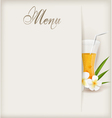 Menu with juice vector