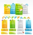 Web boxes and labels vector