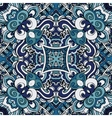 Abstract blue vintage damask paisley seamless vector