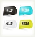3d message hello vector