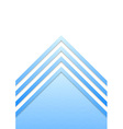 Blue border arrow lines background vector