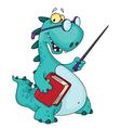 Teacher dinosaur vector
