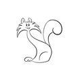 cat silhouette isolated on white vector