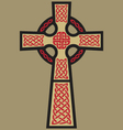 Classic celtic cross vector