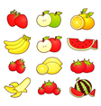 A wide variety of fruits icons sets vector