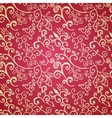Seamless red floral pattern vector