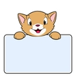 Cartoon banner cat vector