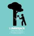Lumberjack with axe symbol vector