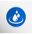 Water drop rain droplet icon fluid clean design vector