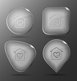 Orphanage glass buttons vector
