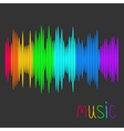 Digital abstract equalizer multicolored waveform vector